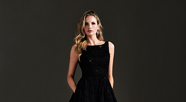 LBD designer cocktail dresses by Caroline Castigliano
