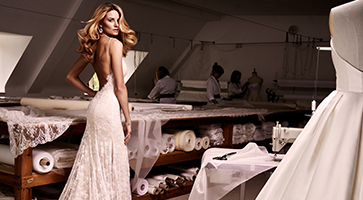 Autumn designer wedding dresses by Caroline Castigliano