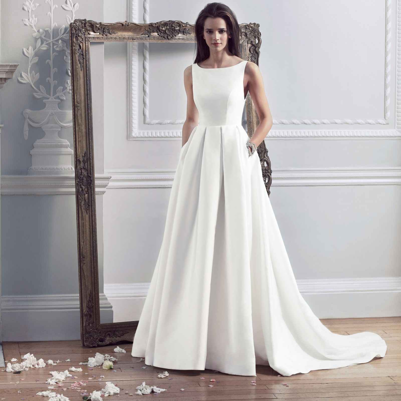 hepburn boat neck wedding dress HEPBURN