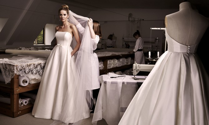Karolina designer wedding dress by Caroline Castigliano