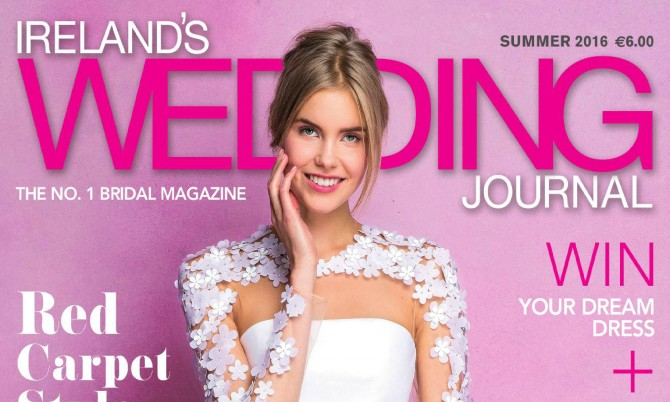 Ireland Wedding Journal Cover designer wedding dresses by Caroline Castigliano