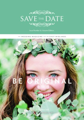 Save The Date Magazine Cover designer wedding dress by Caroline Castigliano