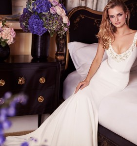 Baboushka designer wedding gowns by Caroline Castigliano