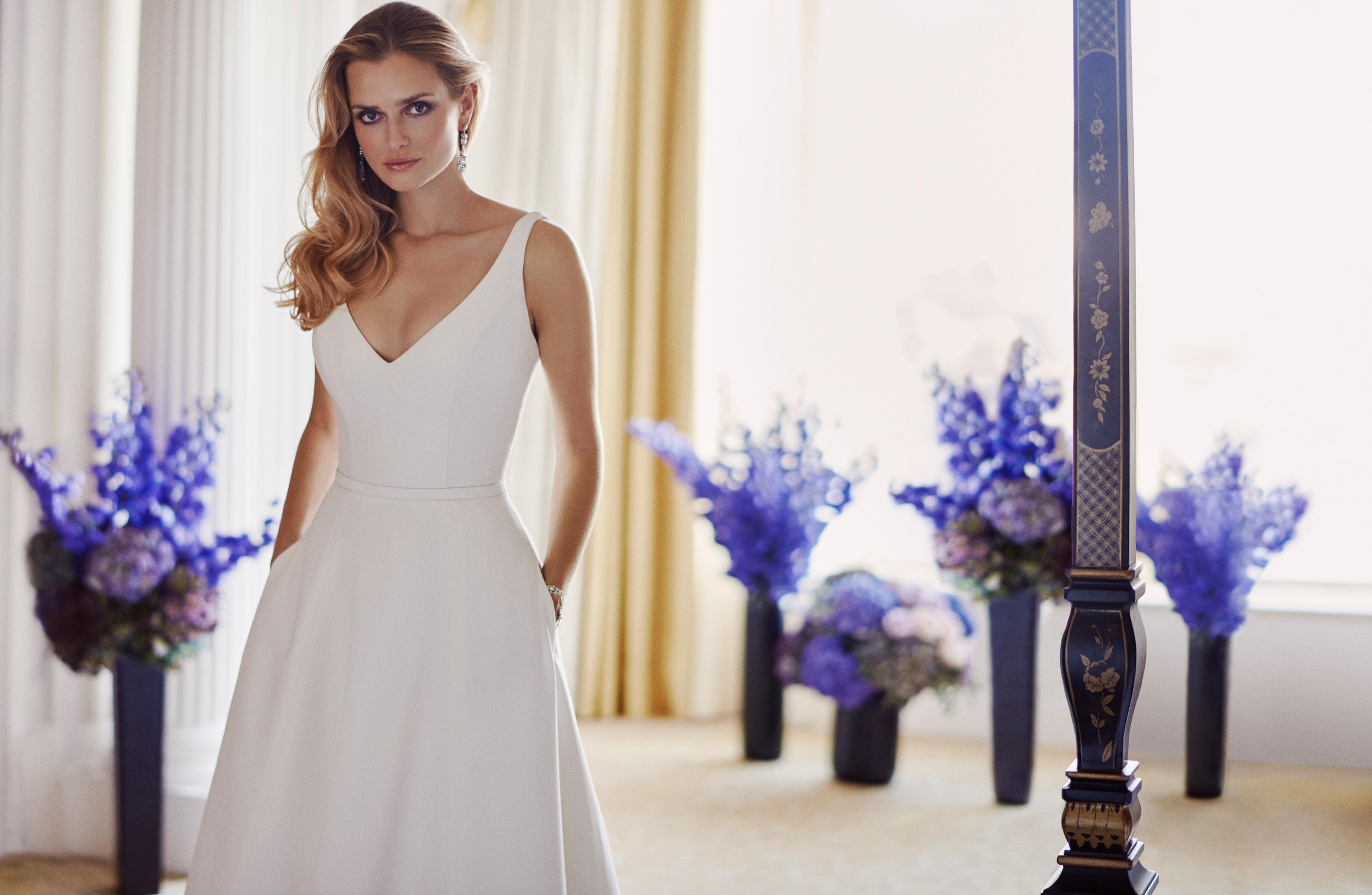 Lyla designer wedding gowns by Caroline Castigliano