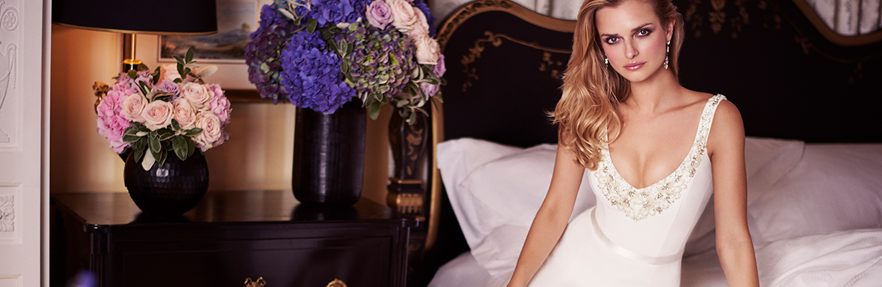 Love is in the Air designer wedding dresses by Caroline Castigliano