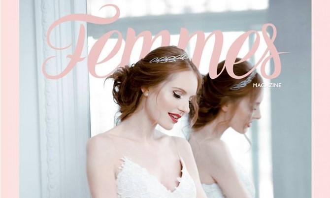 Femmes Cover Tertia designer wedding dress by Caroline Castigliano