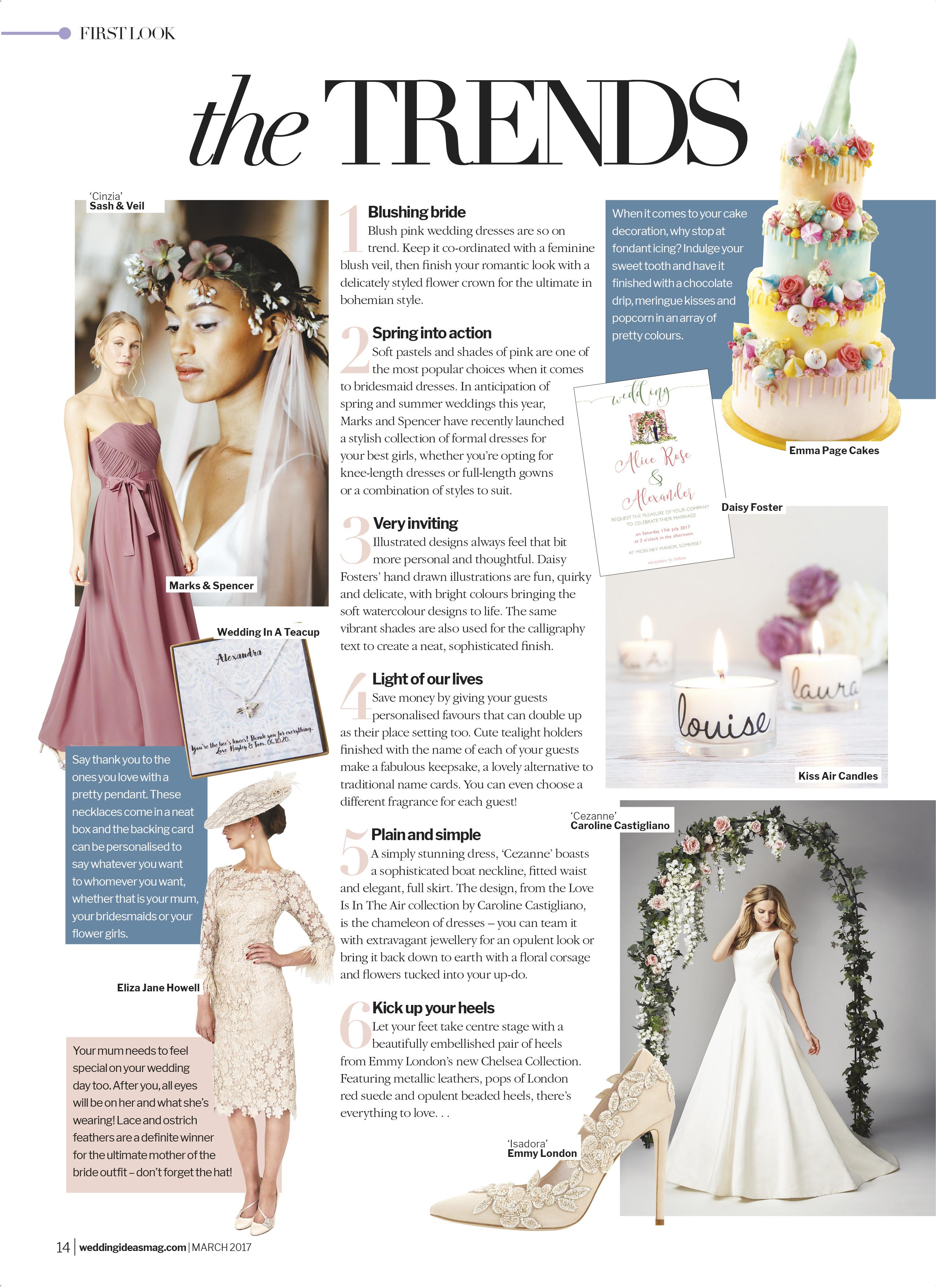 Wedding Ideas Cezanne designer wedding gown by Caroline Castigliano