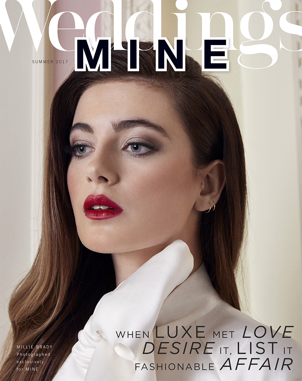 Mine Magazine cover Caroline Castigliano designer wedding dresses