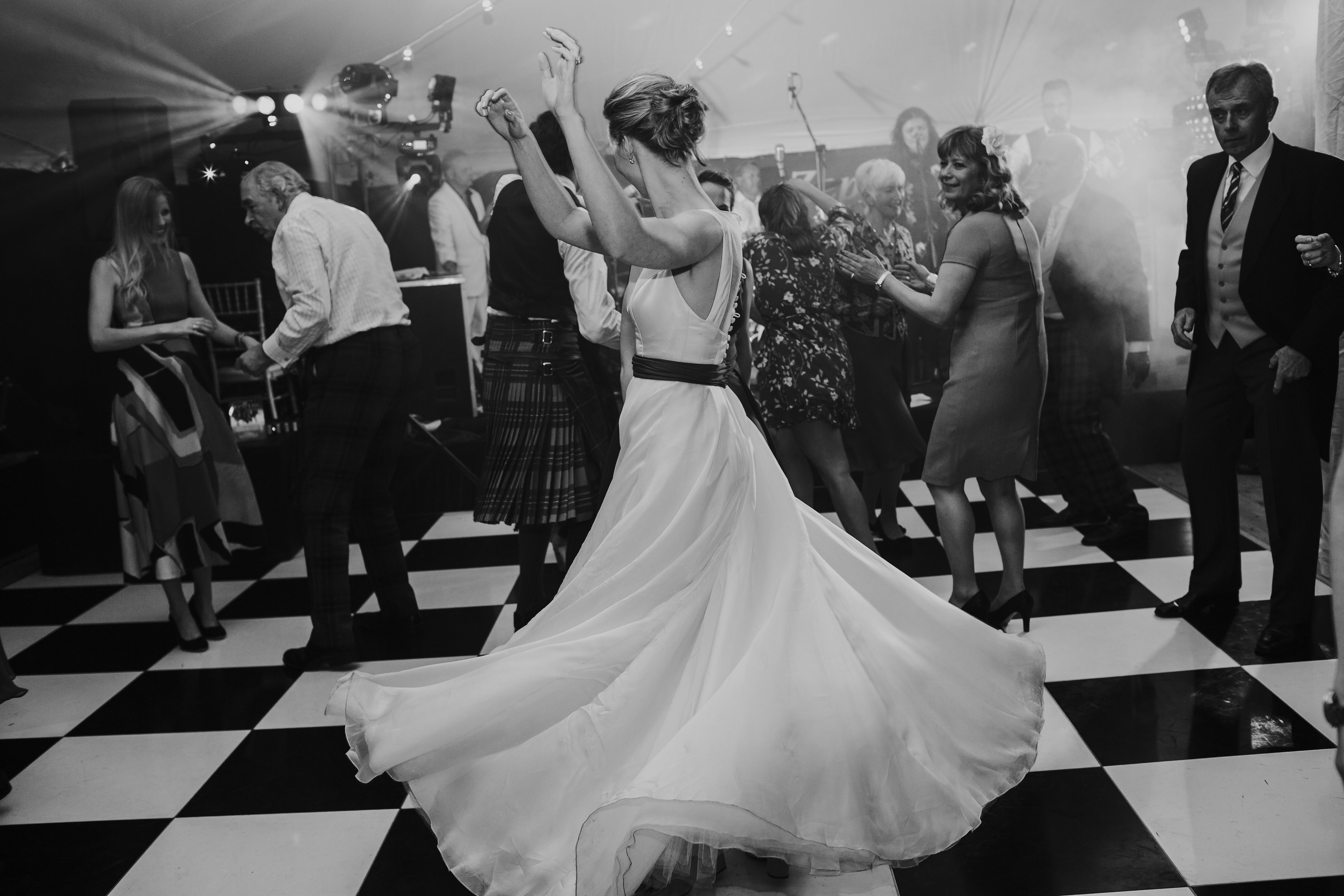 Araminta Campbell designer wedding dress by Caroline Castigliano