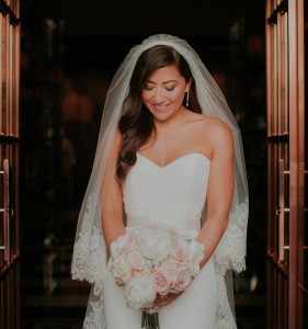 Frances Banham designer wedding dress by Caroline Castigliano