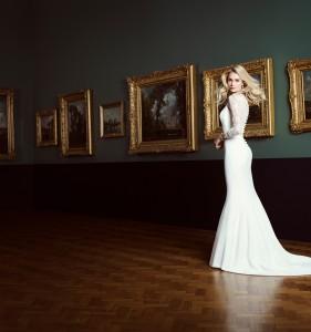 Natalya designer wedding gown by Caroline Castigliano