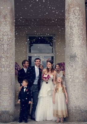 Goodwood House designer wedding gown by Caroline Castigliano