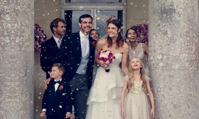 Goodwood House designer wedding gown by Caroline Castigliano