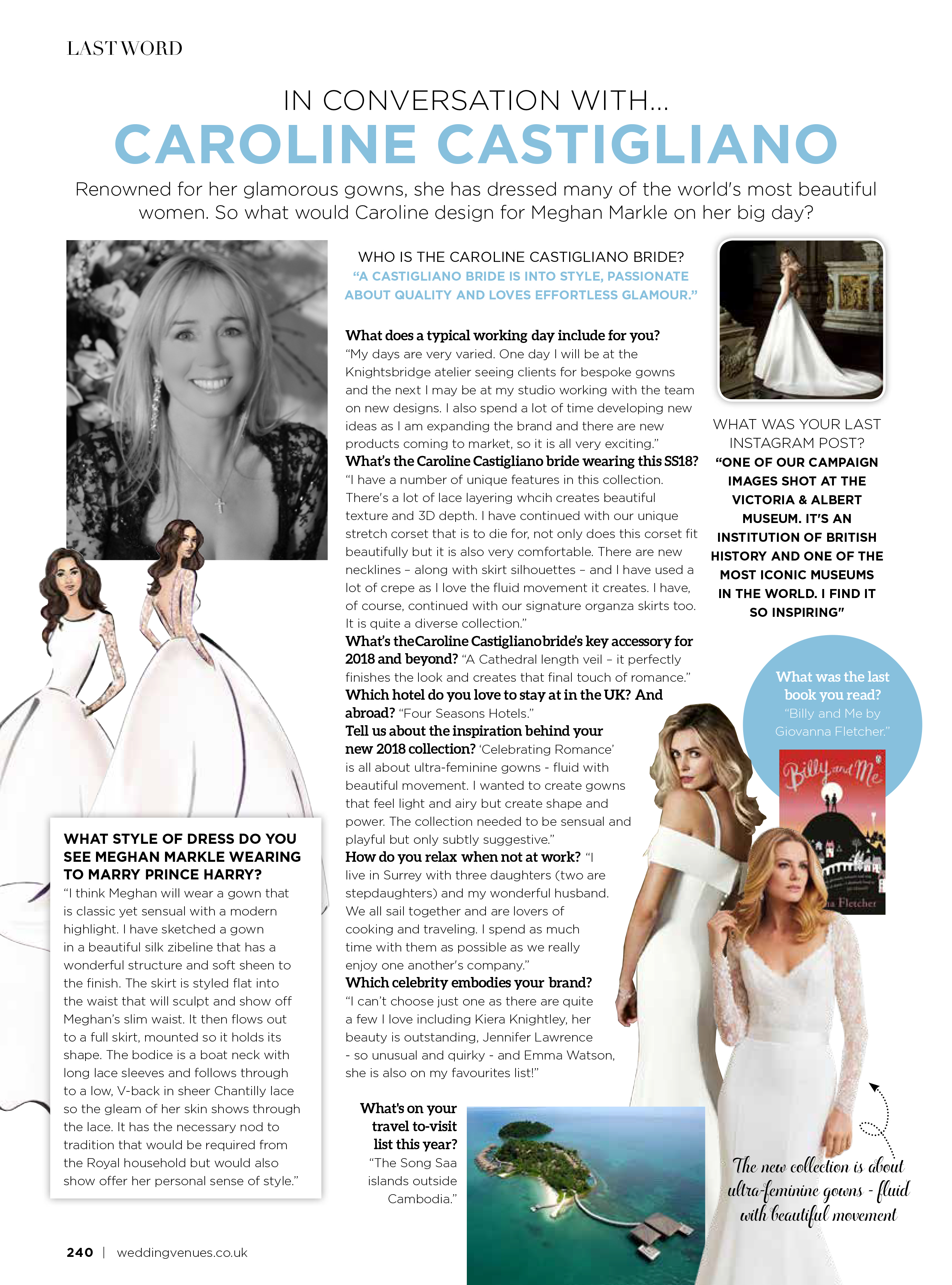 wedding dress designer Caroline Castigliano
