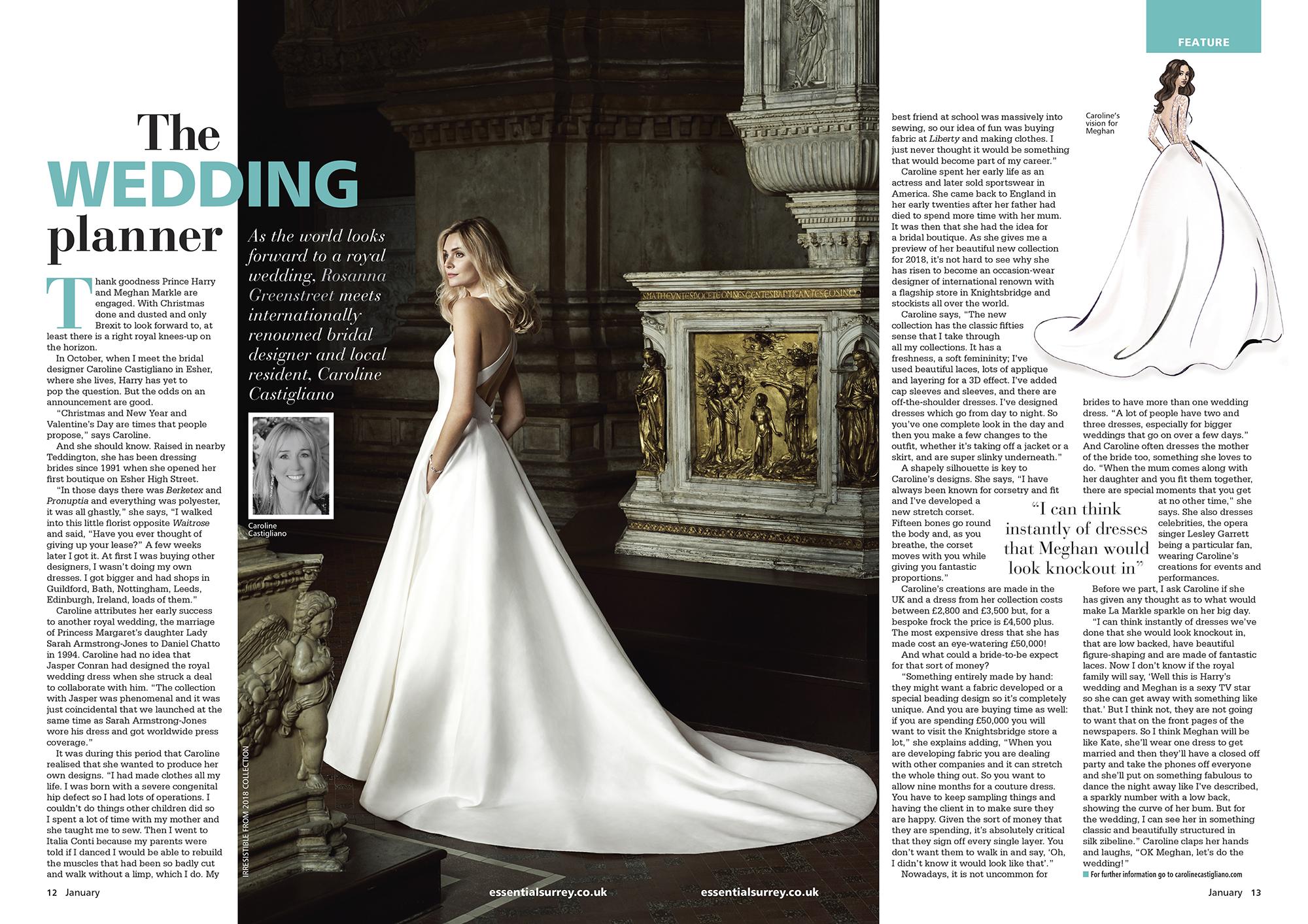 designer wedding dresses by Caroline Castigliano