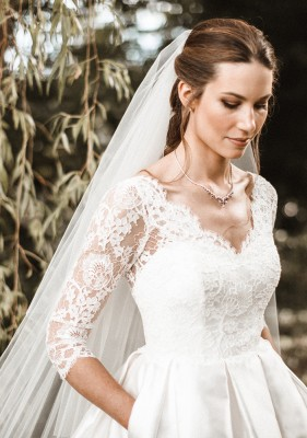 Alexis designer wedding dress by Caroline Castigliano