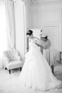 bespoke wedding gown by Caroline Castigliano