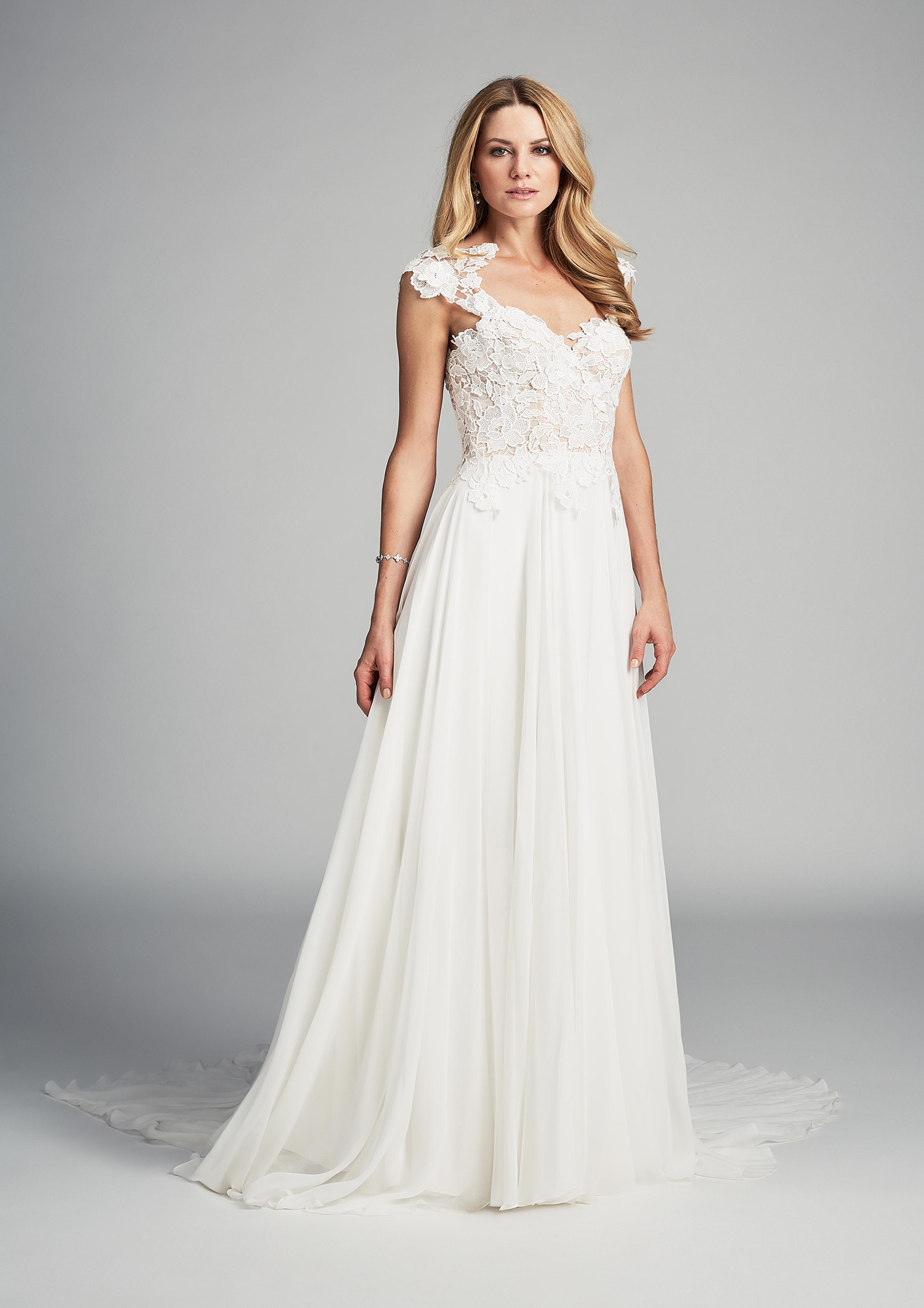 Morning designer wedding gown by Caroline Castigliano