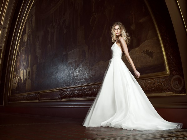 Four Seasons designer wedding gown by Caroline Castigliano