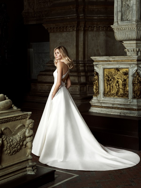 Irresistable designer wedding gown by Caroline Castigliano