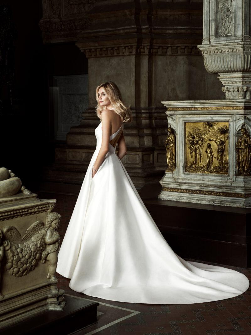 Irresistable designer wedding gown by Caroline Castigliano