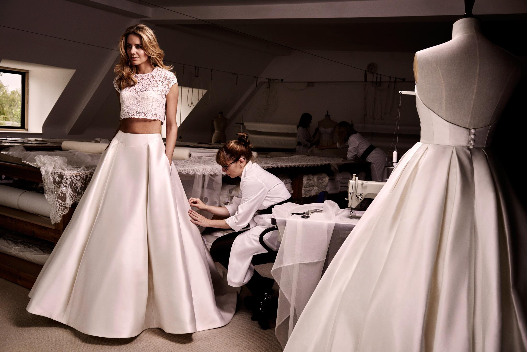Anya & Agelika designer wedding dress by Caroline Castigliano
