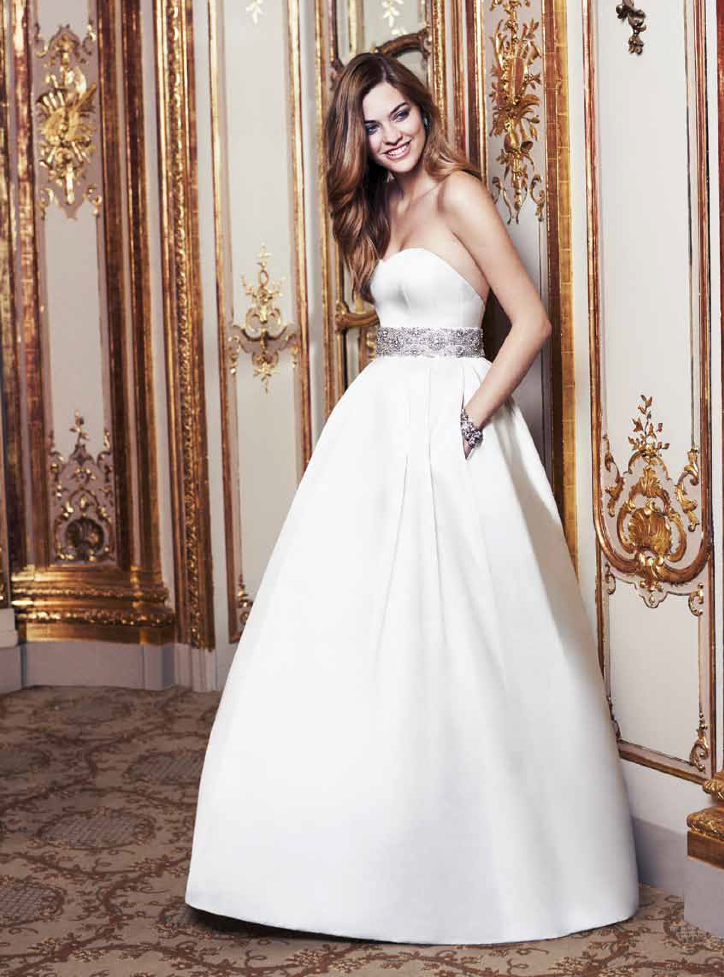 Rossini designer wedding dresses by Caroline Castigliano