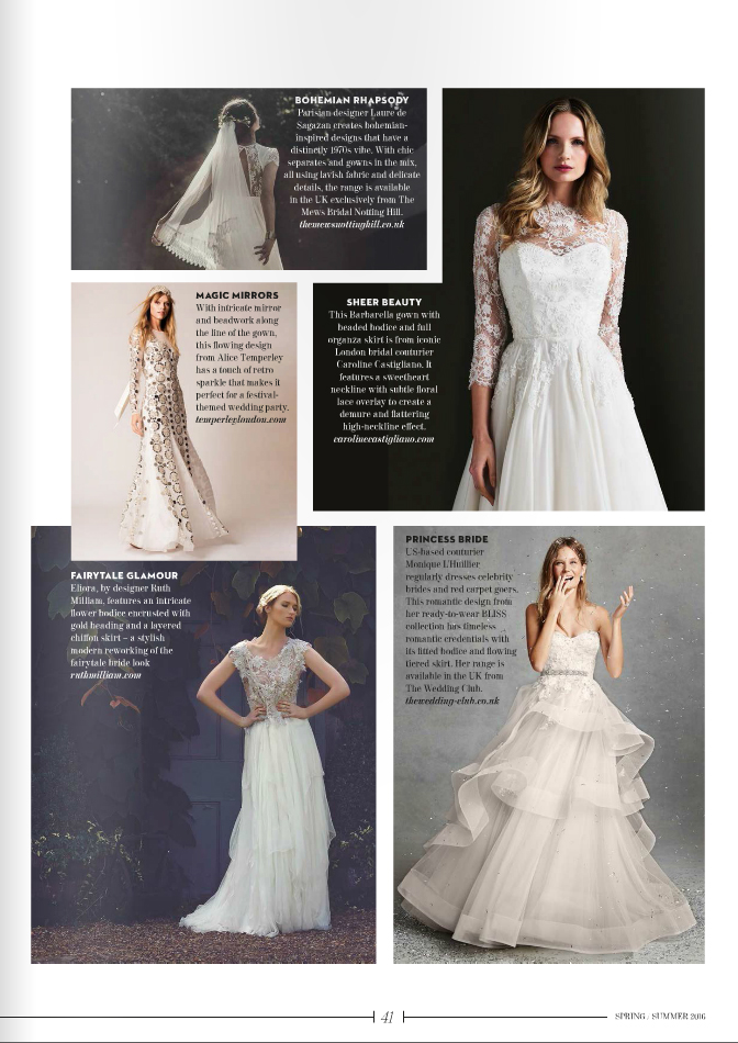 Barbarella Passion Collection designer wedding dresses by Caroline Castigliano