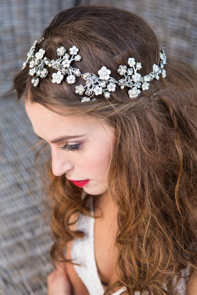 Maria Elena headpieces available at Caroline Castigliano