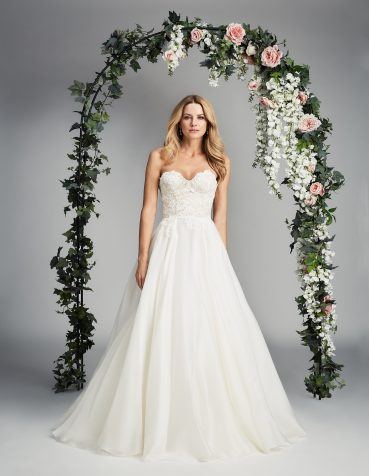 Paislee Caroline Castigliano designer wedding dress