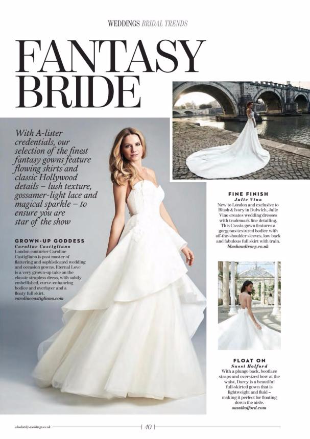 Absolutely Weddings Eternal Love designer wedding dress by Caroline Castigliano