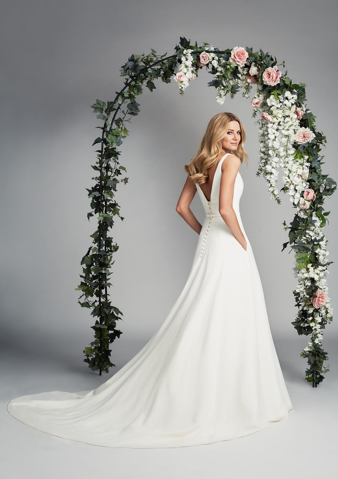 Lyla designer wedding gown by Caroline Castigliano