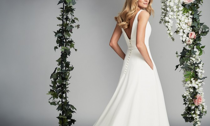 Lyla designer wedding gown by Caroline Castigliano