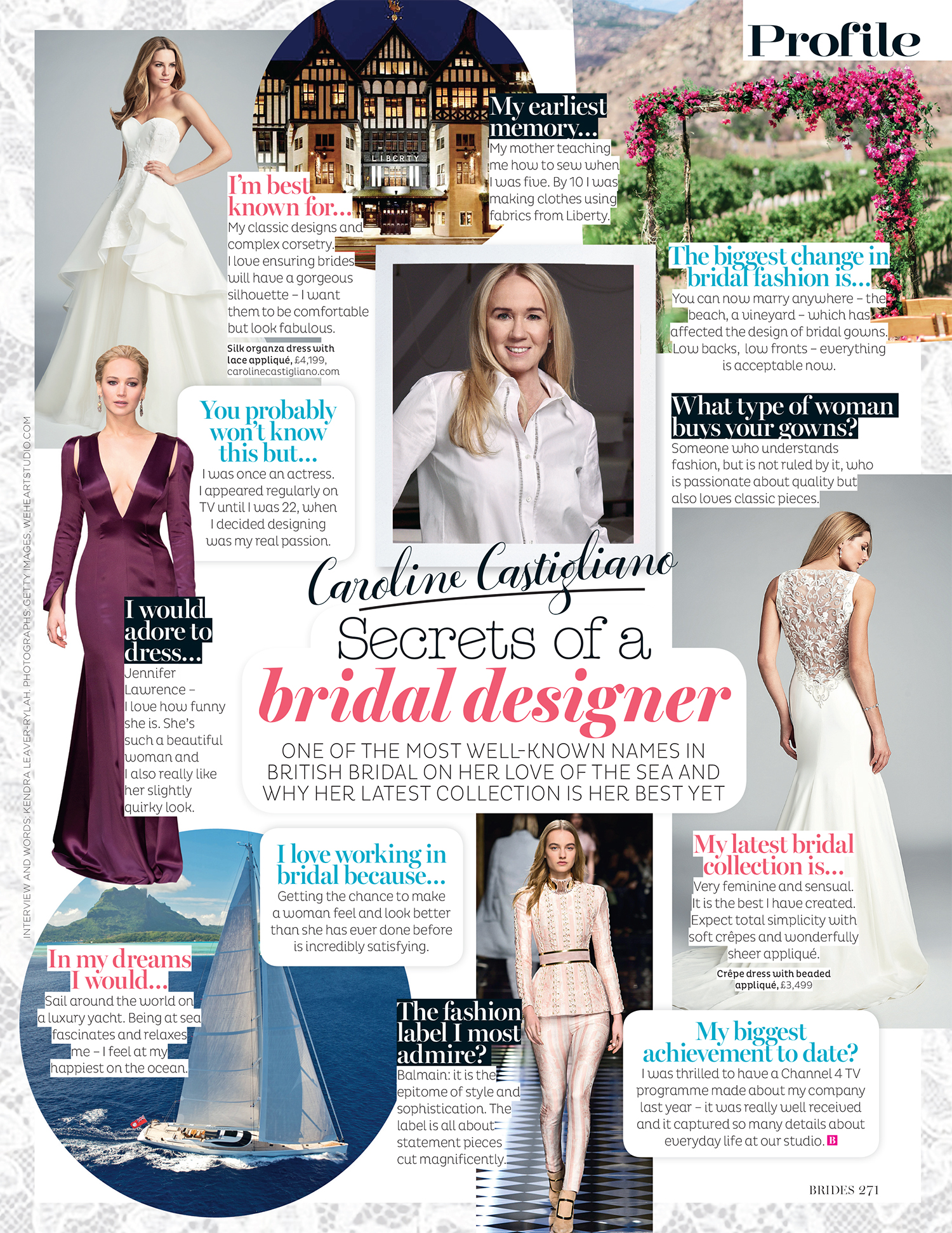 Designer Profile designer wedding dresses by Caroline Castigliano