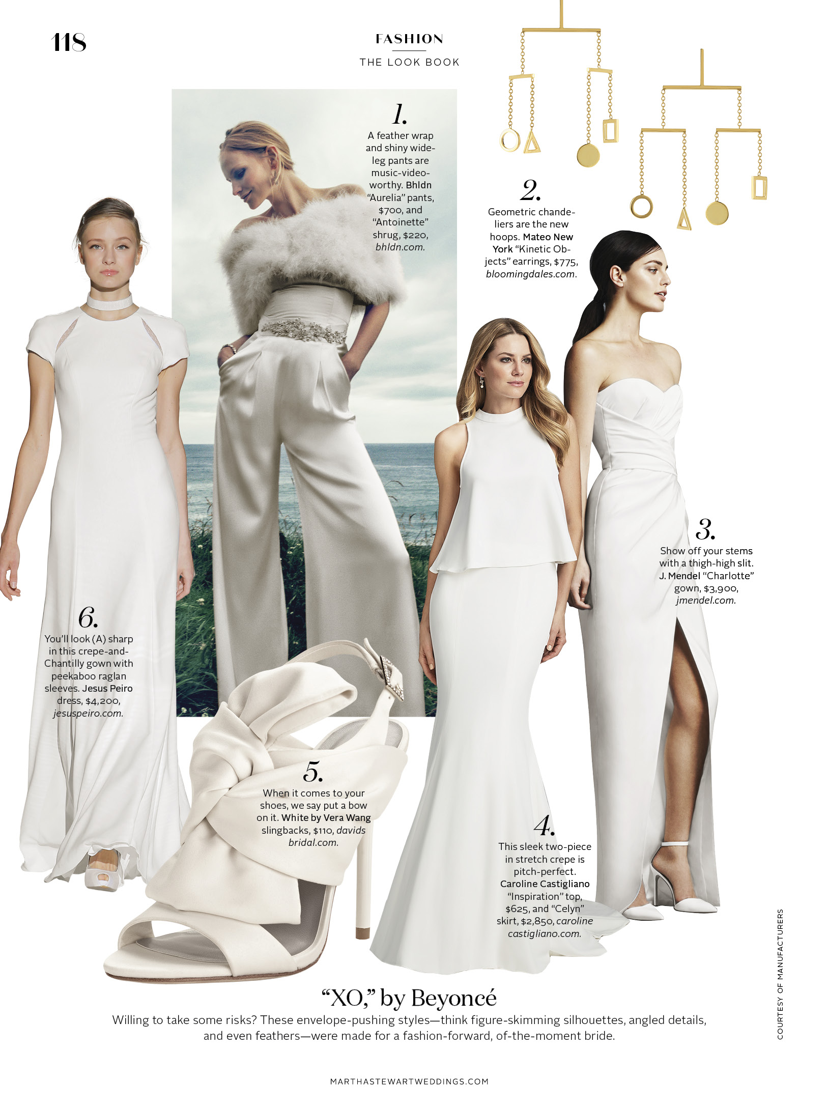 Martha Stewart Weddings designer wedding dresses by caroline Castigliano