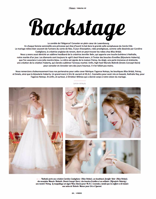 Femmes Cover Tertia designer wedding dress by Caroline Castigliano