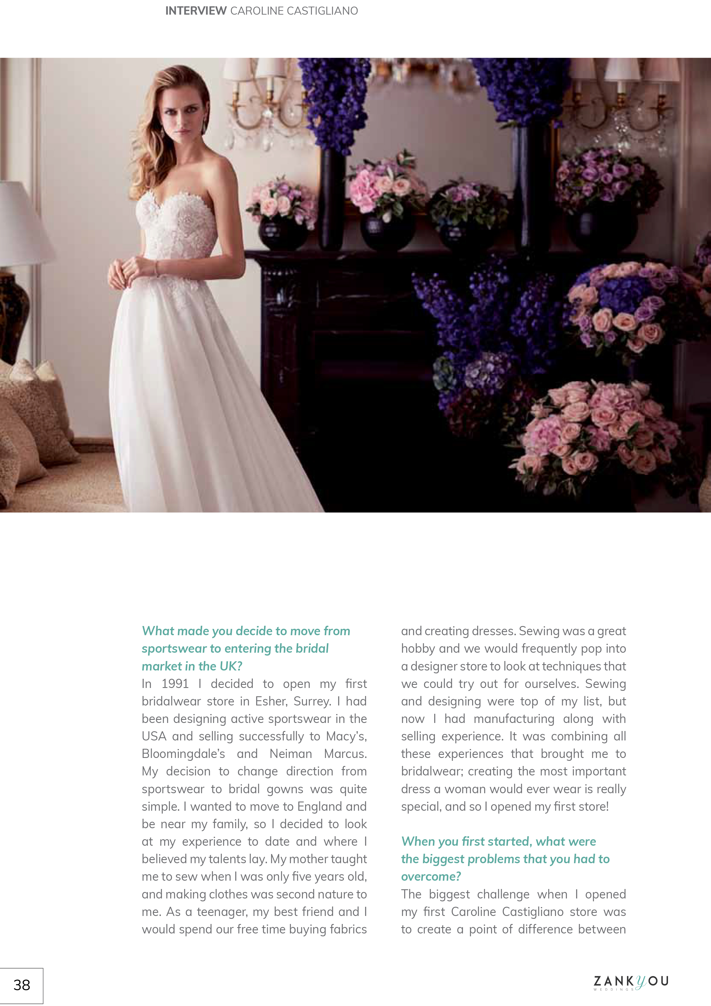 Paislee designer wedding dresses by Caroline Castigliano