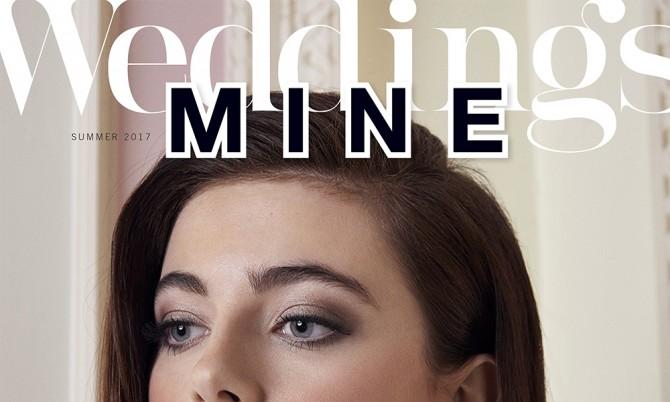 Mine Magazine cover Caroline Castigliano designer wedding dresses