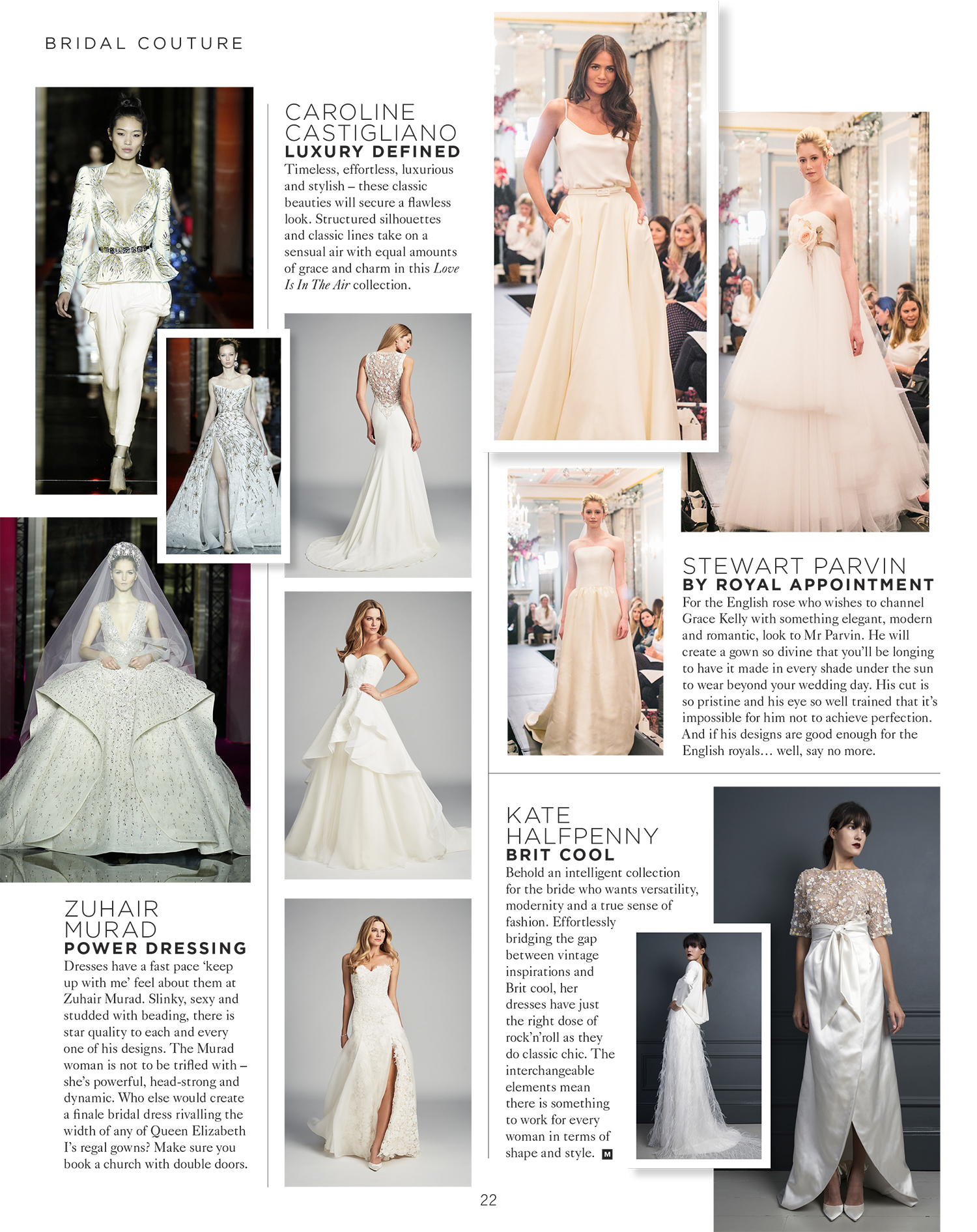 Mine Magazine Caroline Castigliano designer wedding dresses