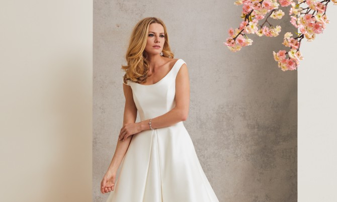 Ascot designer wedding dress by Caroline Castigliano
