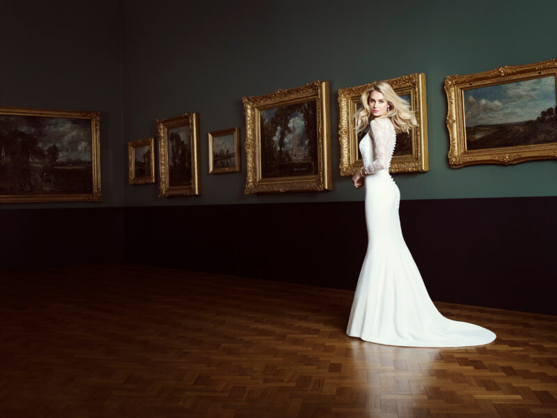 Natalya designer wedding gown by Caroline Castigliano