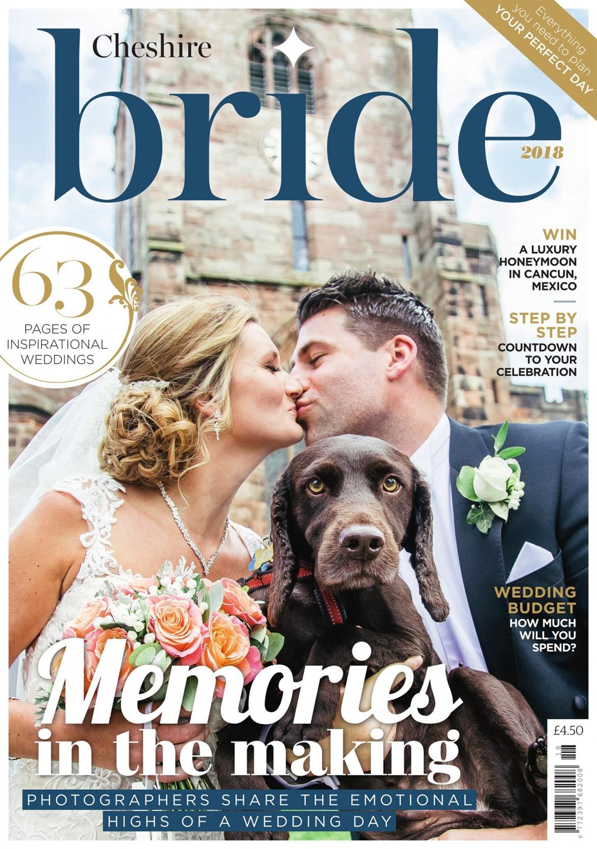 Cheshire Bride Magazine designer wedding dress by Caroline Castigliano