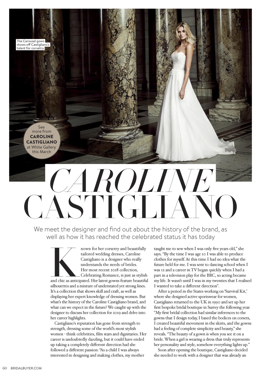 Celebrating Romance designer wedding dresses by Caroline Castigliano