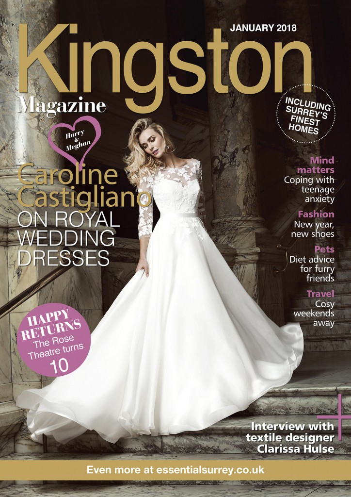 Burgundy designer wedding dress by Caroline Castigliano