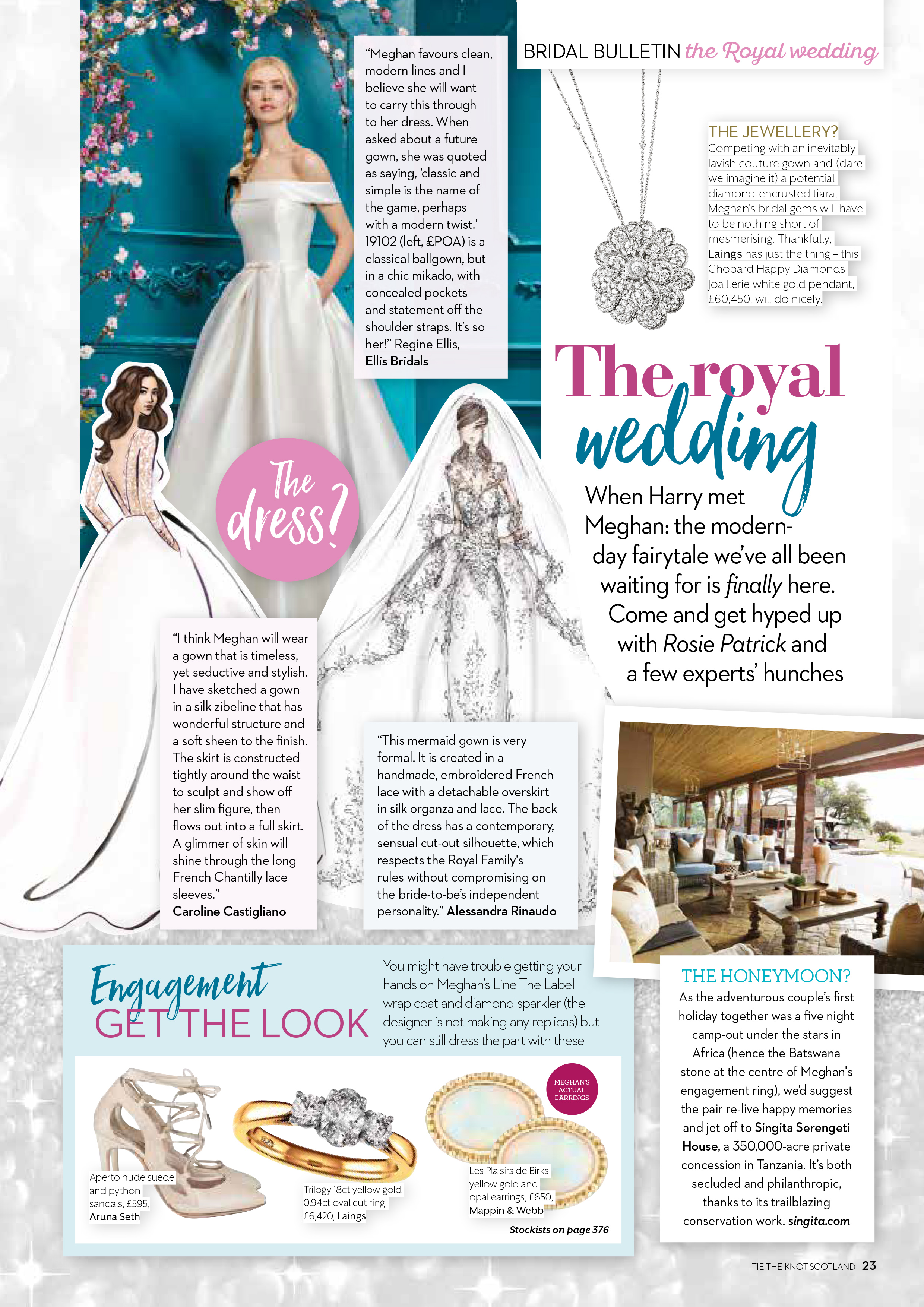 Meghan Markle designer wedding gown by Caroline Castigliano