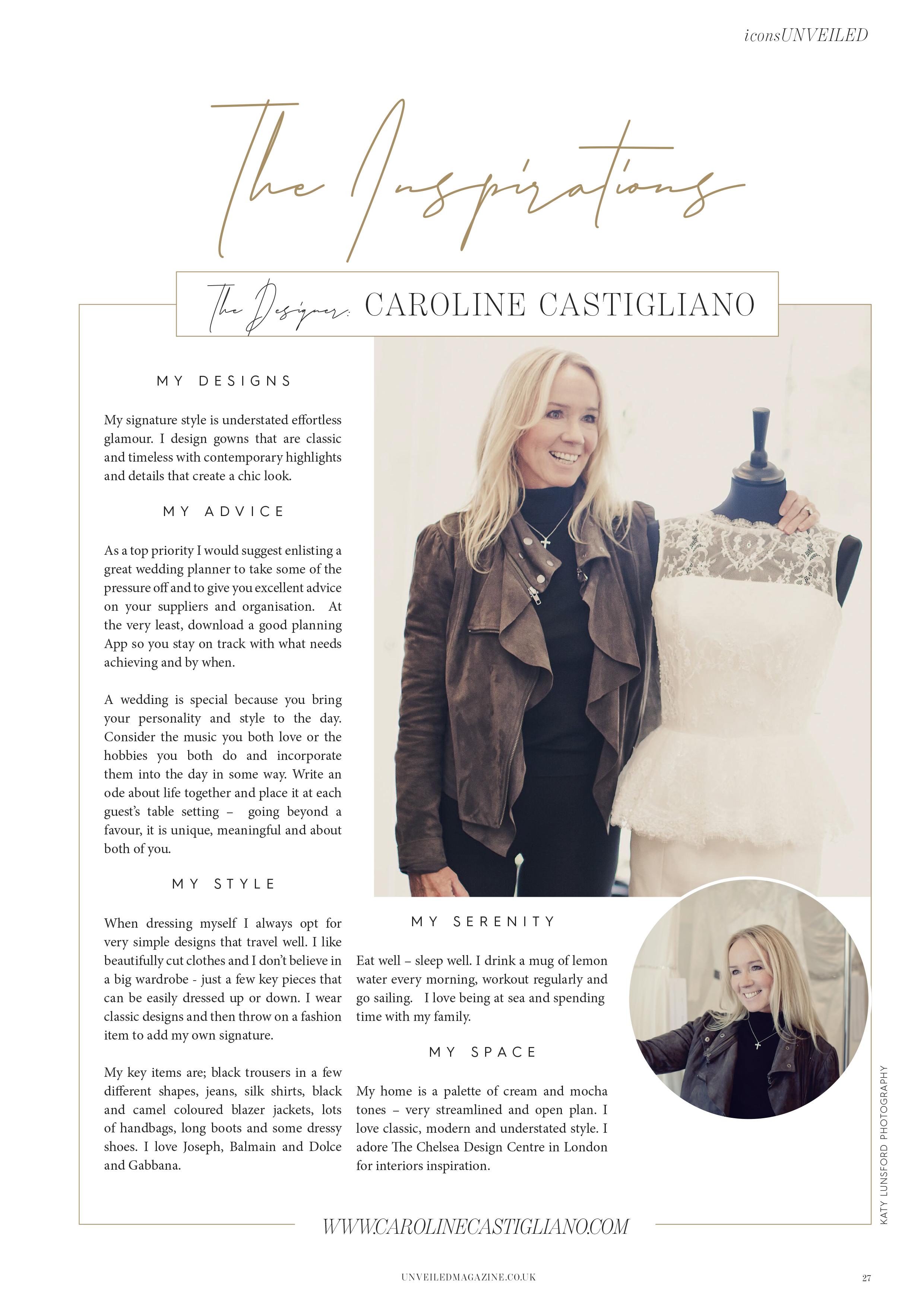 Designer Profile Caroline Castigliano