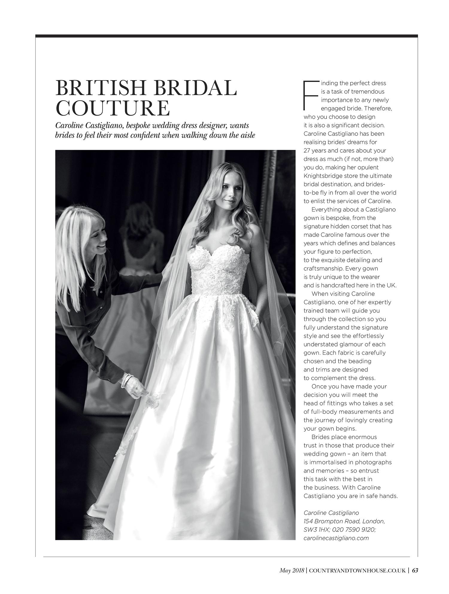Designer Wedding Dresses | Caroline Castigliano
