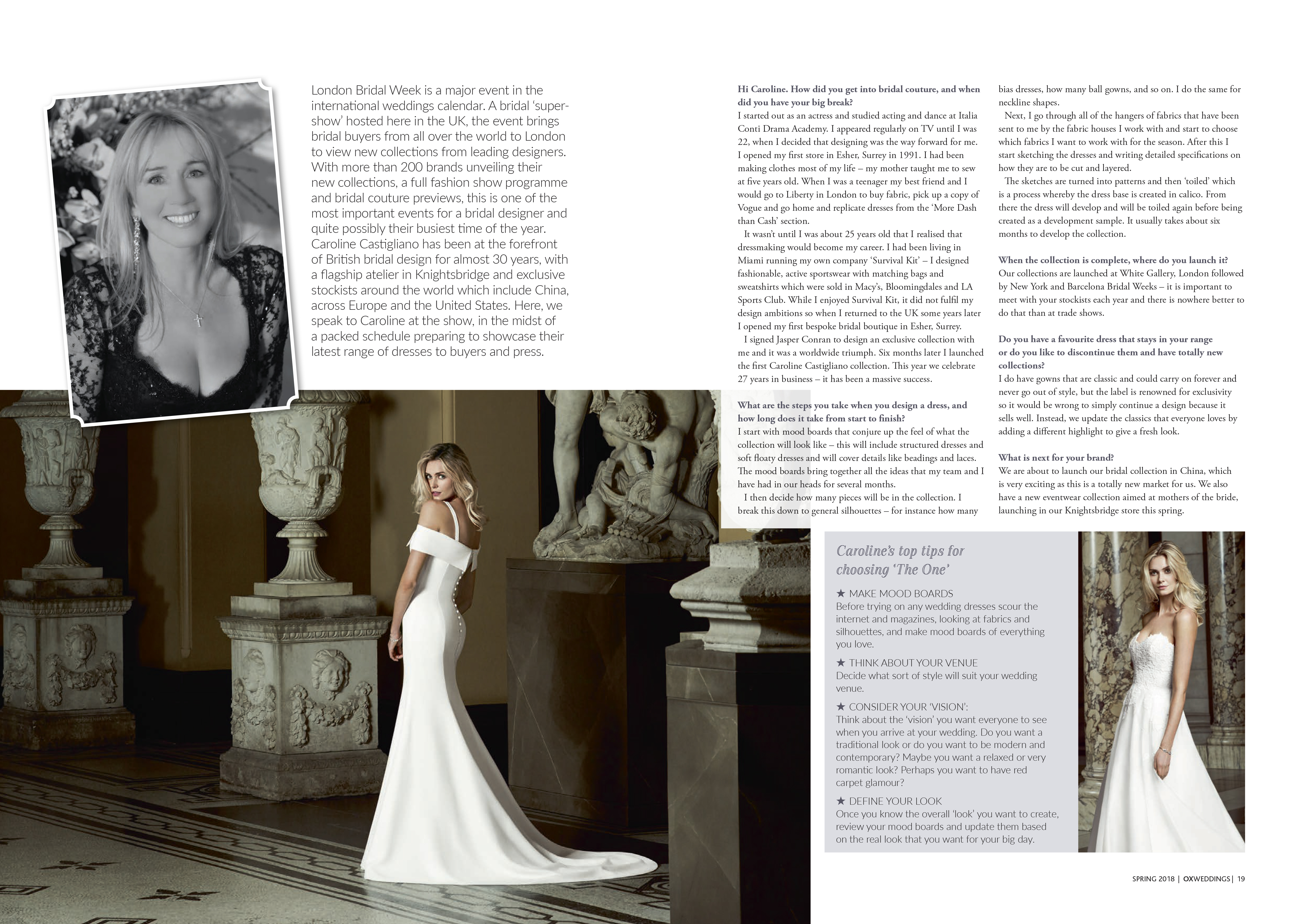 Luxury bridal wear by Caroline Castigliano