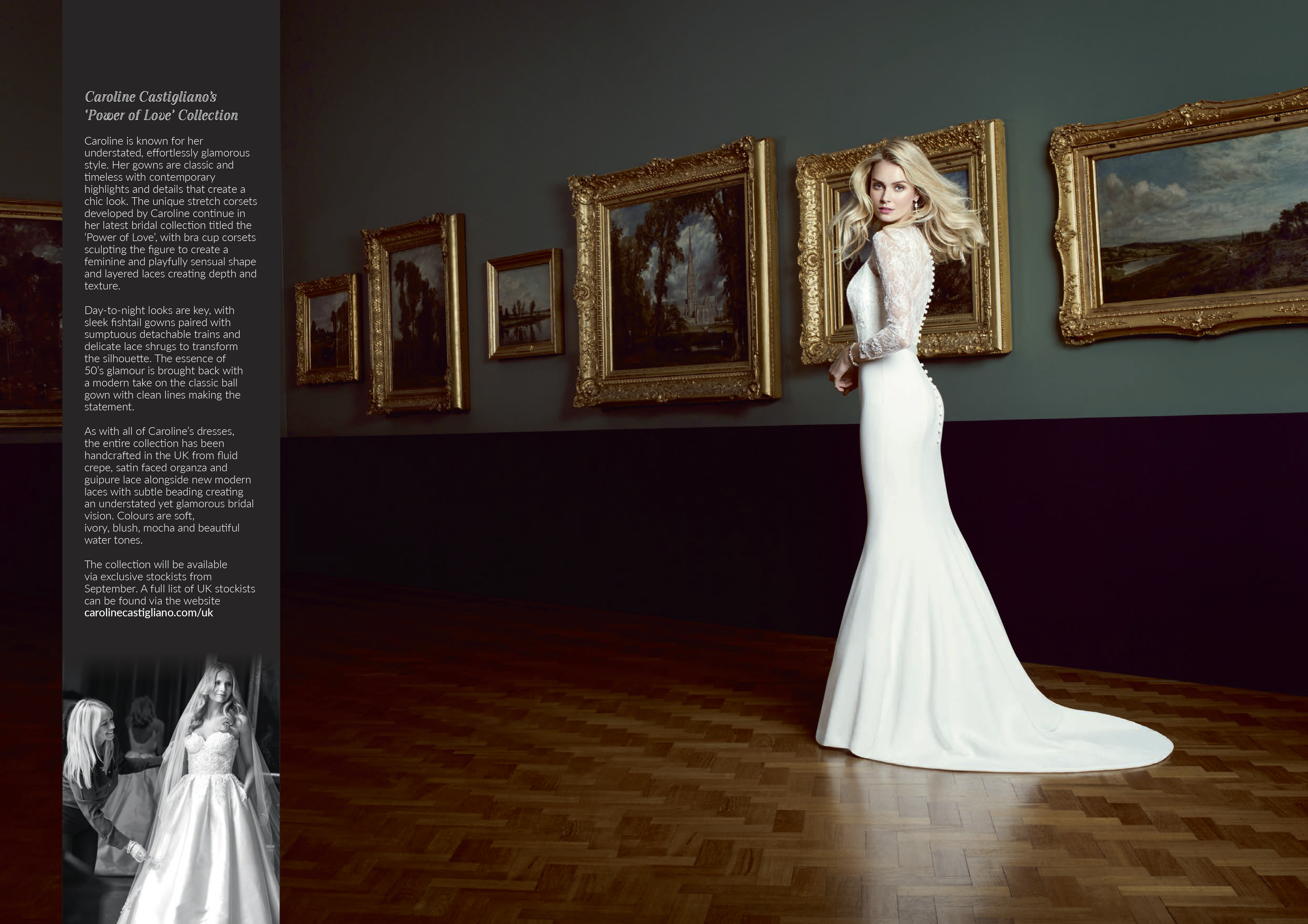 Natalya designer bridal dress by Caroline Castigliano