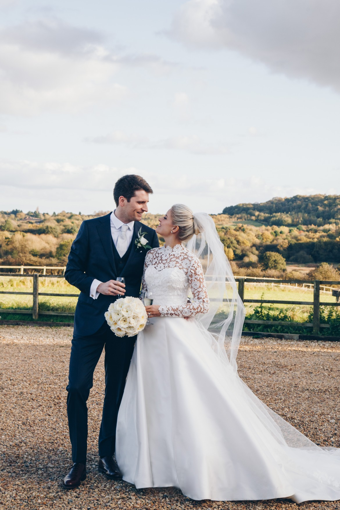 Statuesque designer wedding dress by Caroline Castigliano
